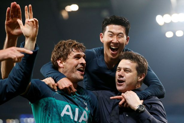 Tottenham players think their win has been snatched away at the end. [Reuters]