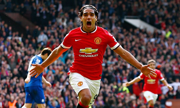 Radamel Falcao after his goal against Everton.