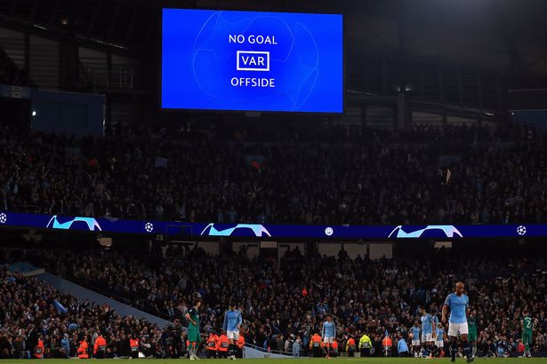 Sterling's 'goal' was ruled out and City were the team eliminated [PA Wire]