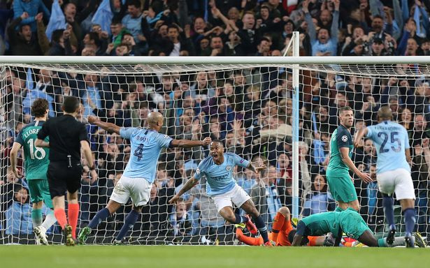 The big moment has everyone talking about when City thought they had won the match. (CameraSport via Getty Images)