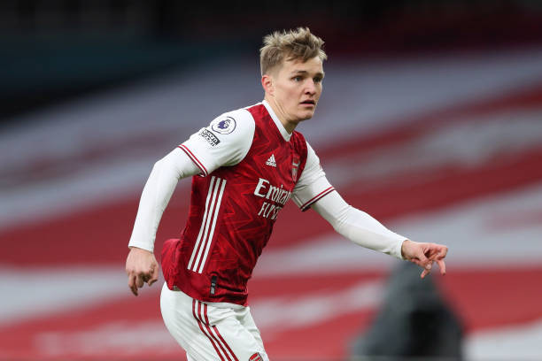 Arsenal star rates loan signing Odegaard. [Getty]