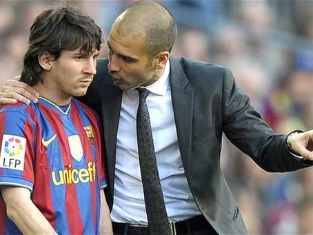 Guardiola wants Messi to finish his career at Barcelona.