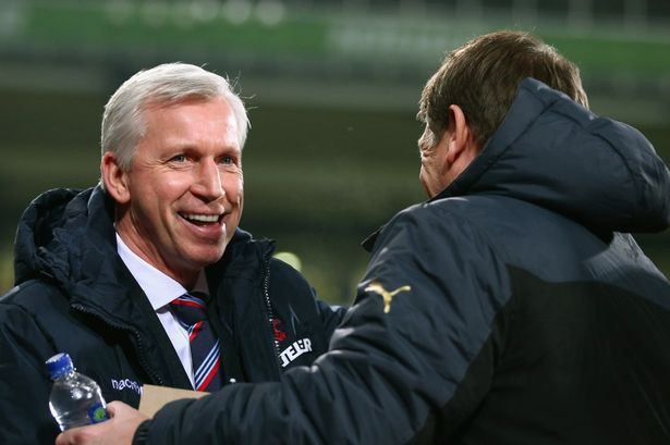Pardew and Carver worked together on Tyneside
