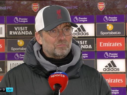 Klopp hails Liverpool's counter-pressing against Arsenal.