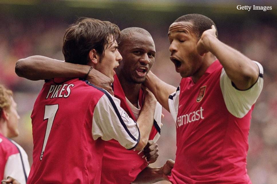 Vieira won three Premier League titles with Arsenal. [Getty]