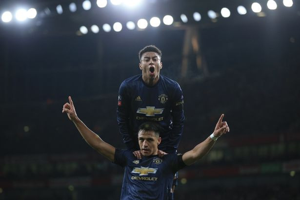 Alexis Snchez and Jesse Lingard. (Image: Getty Images)