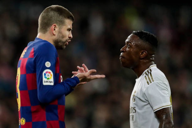 Barca defender Pique disappointed with defeat to Real Madrid. [Getty]