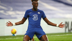 Tammy Abraham reacts after Chelsea win over West Ham.