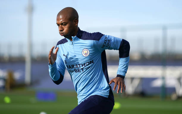 Man City ace Fernandinho. [GETTY]