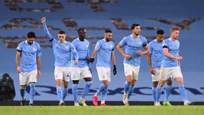 Man City stars Mendy and Mahrez react after 5-0 win against Burnley.