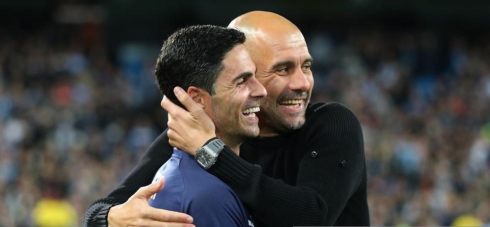 Arteta heaps praise on Guardiola. [Getty]