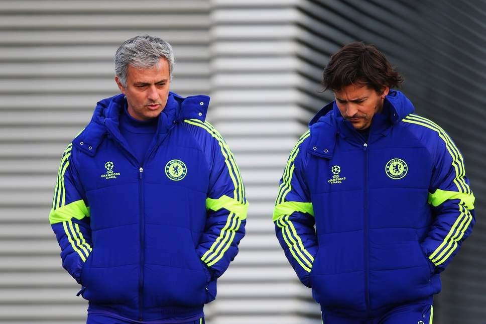 Jose Mourinho and Rui Faria. (Paul Gilham/Getty Images)
