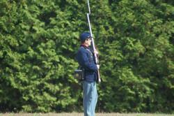 Pvt. Dobson on guard