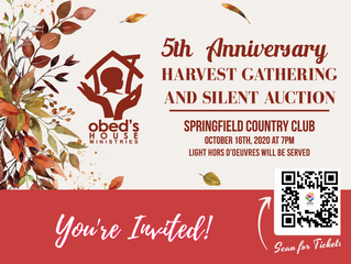 You're Invited to our 5th Anniversary, Harvest Gathering and Silent Auction!