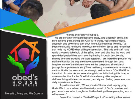 Guided Prayers for the Obed's Children