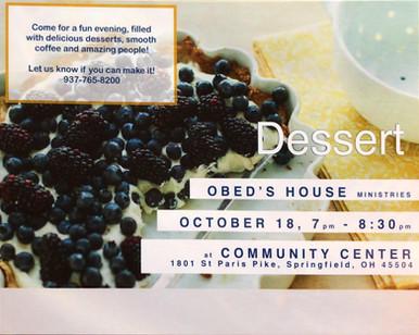Obed's House Dessert Fundraiser