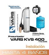 Presurizador sumergible VARS KVS-400