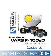 Presurizador de agua VARS F-100sD
