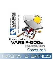 Presurizador de agua VARS F-500s
