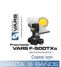 Presurizador de agua caliente VARS F-500TXs