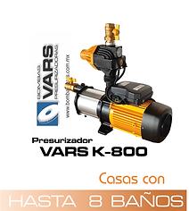 Presurizador de agua vars K-800
