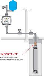 instalación presurizador sumergible
