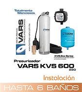 Presurizador sumergible VARS KVS-600