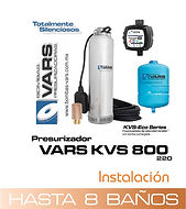 Presurizador sumergible VARS KVS-800