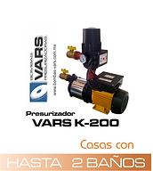 Presurizador de agua vars K-200