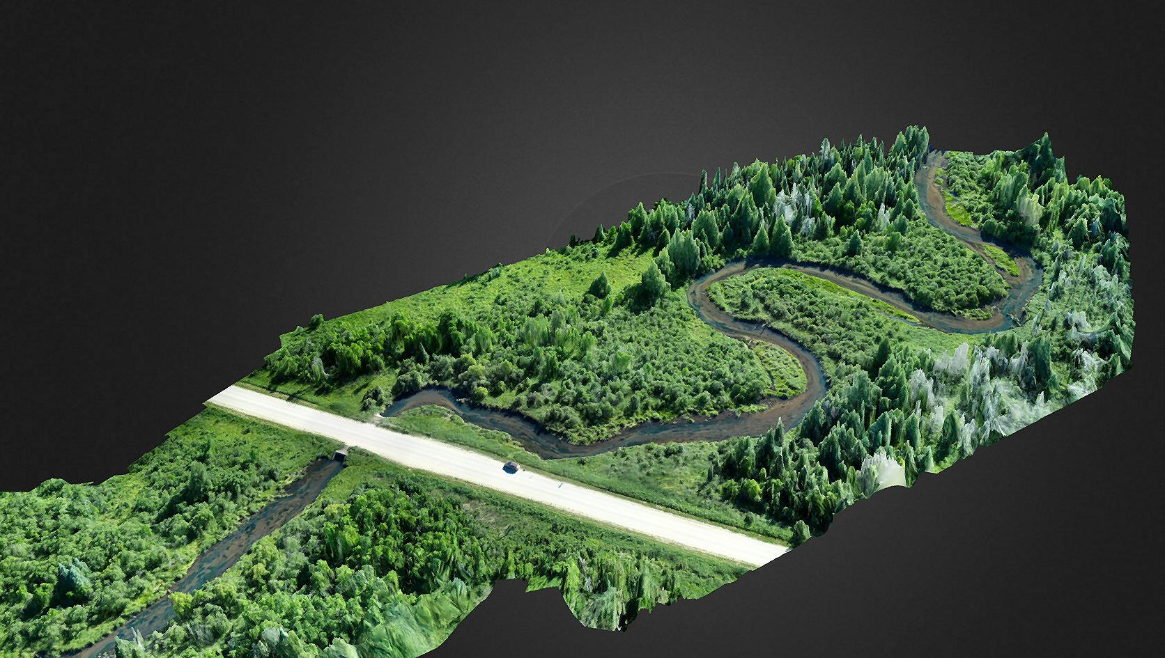 3D model of river