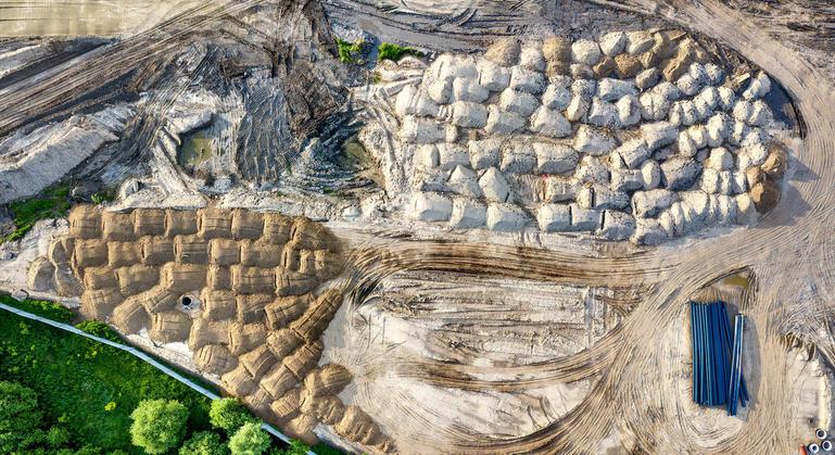 River channel restoration site