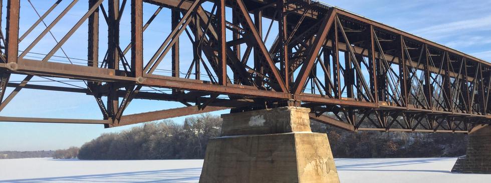 Railroad trestle bridge
