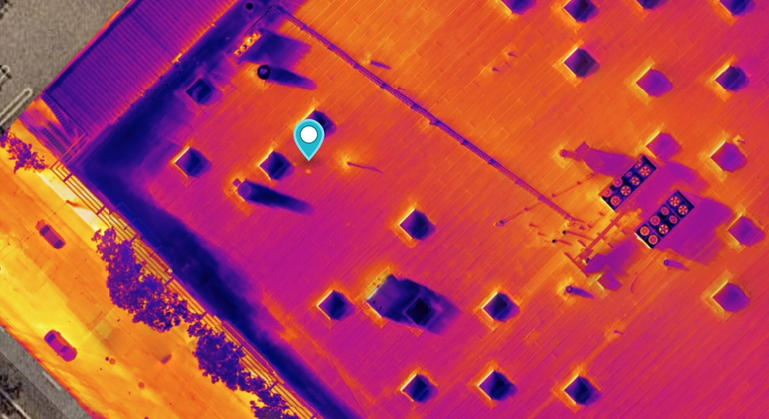 Thermal roof inspection map