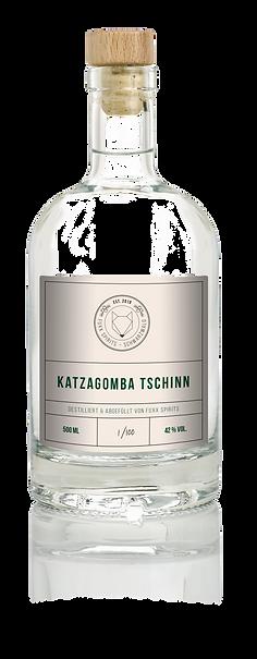Flasche Katzagmoba Tschinn Gin Wacholder Alternativ Ökologisch Handarbeit