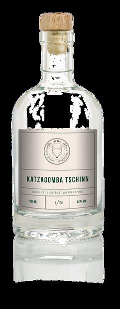 Flasche Katzagomba Tschinn Gin Wacholder Alternativ Ökologisch Handarbeit