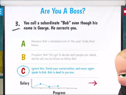 Boss Baby Quiz