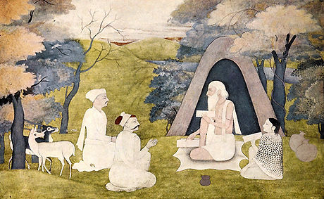 The_Poet_Valmiki,_teaching_Ramayana_to_K