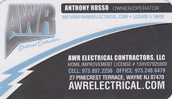 bus card - awr electric (anthony russo)