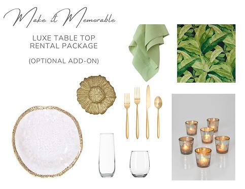 Valentine's Luxe Tabletop Rental Package