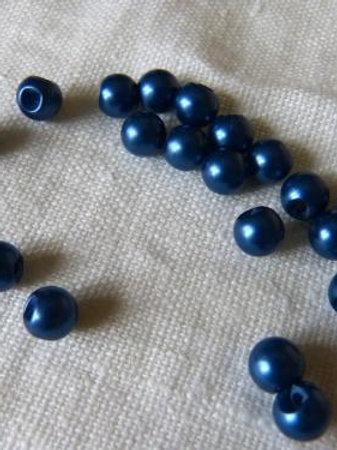Lot de 6 boutons boule bleu