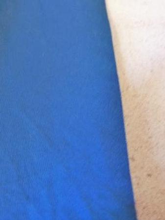 Popeline bleu saphir