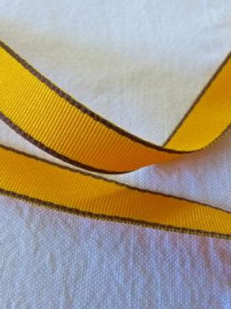 Ruban bicolore safran-marron foncé