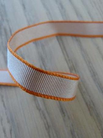Ruban beige -orange