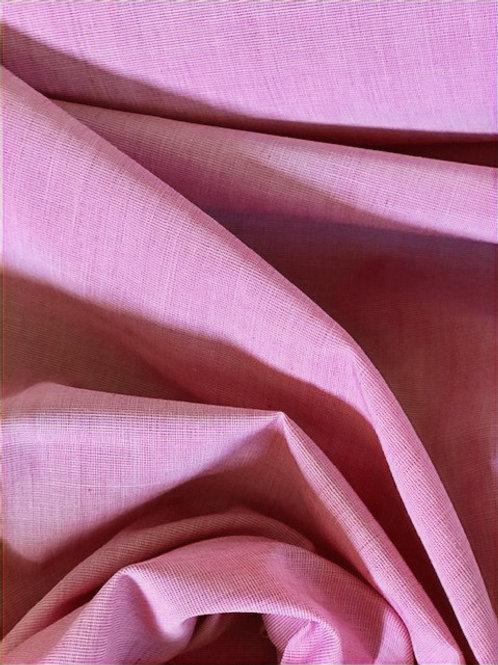 Coton chambray rose