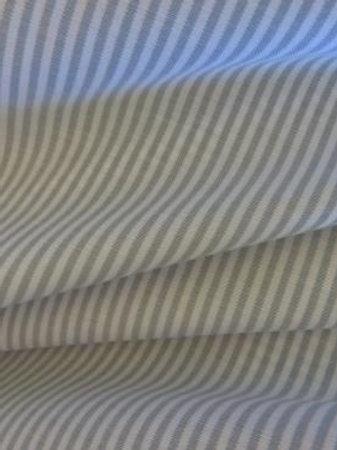 Coton rayé gris clair