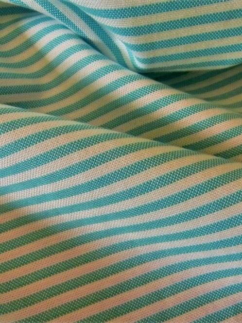 Tissu rayé vert