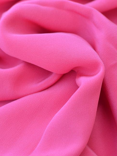 Crêpe de soie rose cyclamen