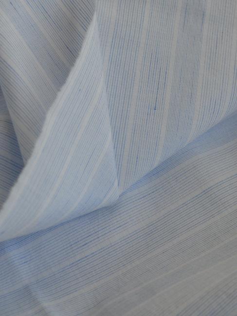 Coton rayé bleu