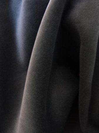 Velours uni gris souris