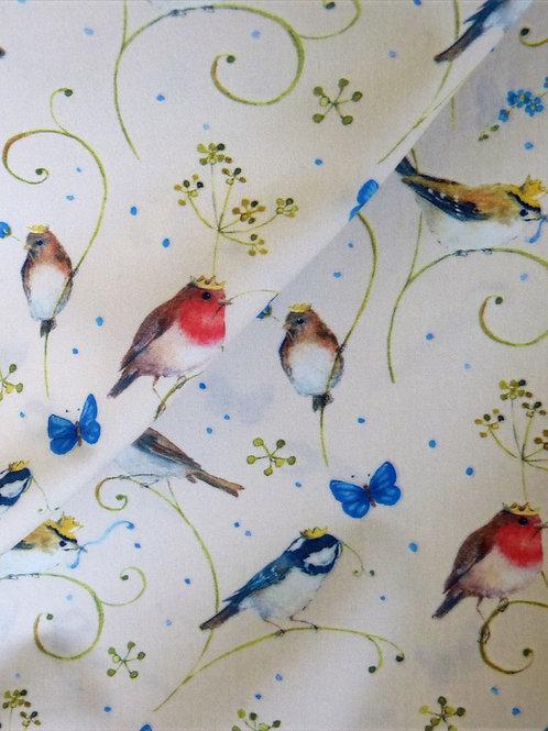 Tissu Bio, Oiseaux couronnés